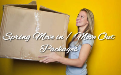 """""""Spring Move out/Move In"""" Special Service Packages"""