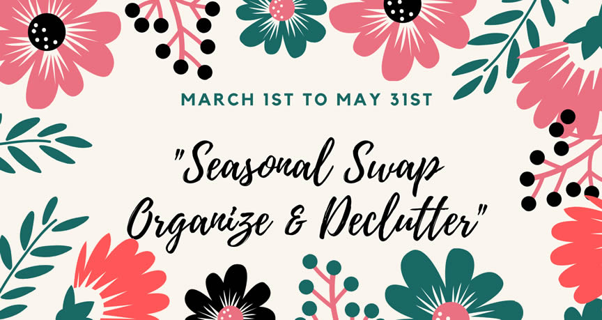 seasonal swap and declutter